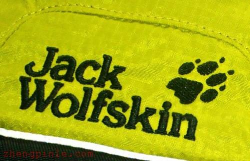 正品狼爪JackWolfskin标志刺绣