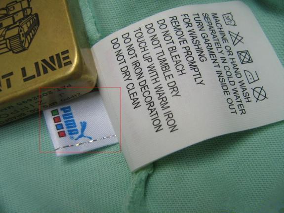 正品PUMA都有安全金属防伪标,防伪标是金属线和水印组成的,反面是水印,一只豹子。