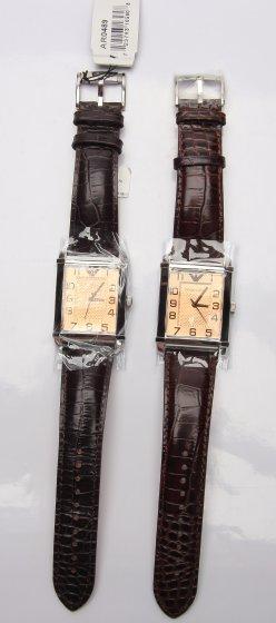真假ARMANI手表外观对比细节图正面全尺寸