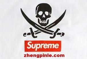 正品supreme标志印刷精致,字母粗细均匀