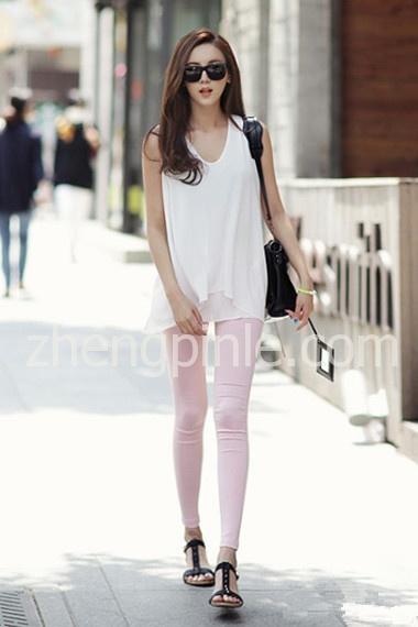 简约飘逸的韩式女装街拍