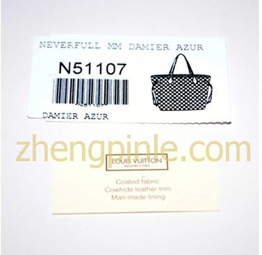 LV包上的标签有LV包的材质等信息