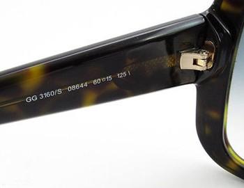 GUCCI太阳镜的左眼镜内侧