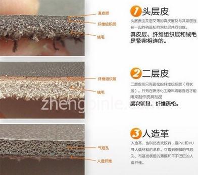 真皮辨别方法--头层皮、二层皮和PU的区别