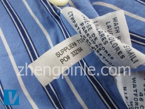 Ralph Lauren衬衫的洗标二