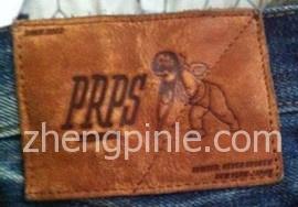 中国产prps牛仔裤的皮标