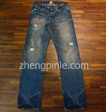 PRPS牛仔裤的整体水洗效果