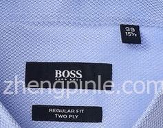 商务款的BOSS衬衫领标