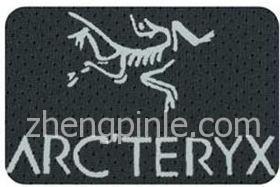 假的始祖鸟服装胶印标志