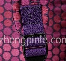 Kipling包的背带8子扣走线真假对比图一