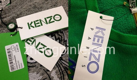 真假KENZO衣服吊牌对比