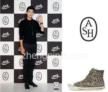 艾熙ASH铆钉款帆布鞋和靴子