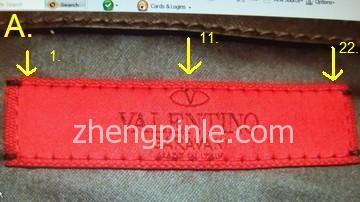 Valentino皮包内红色标签