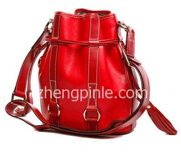 兰姿Lancel经典红色水桶包