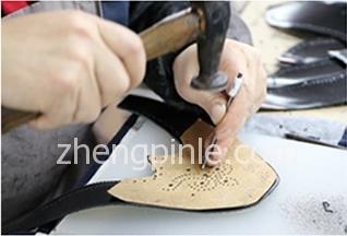 固特异制鞋之手工缝制帮面