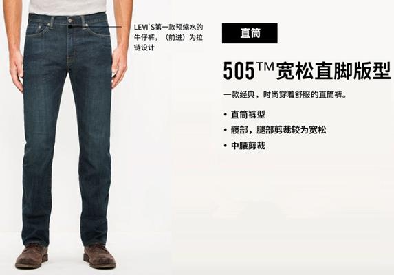 levis 505裤型