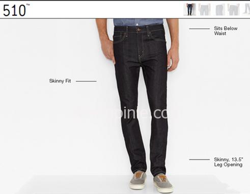 levis 510裤型特点