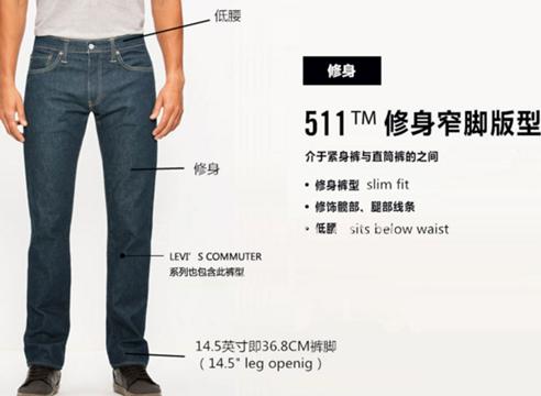 levis 511裤型特点