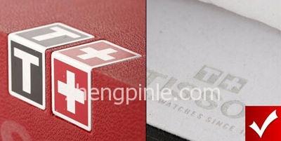 正品天梭表的内包装logo细节