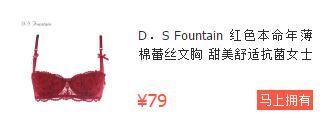 D.S Fountain蕾丝文胸