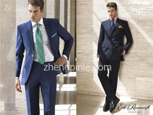 萨维尔街某大店的法国蓝单排扣和午夜蓝双排扣