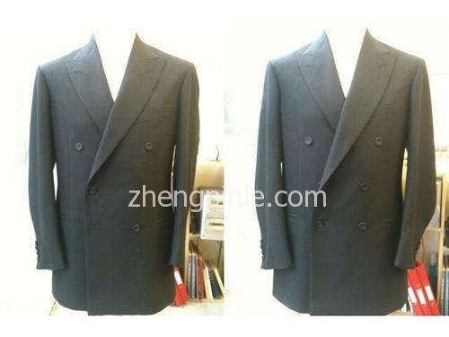 高档定制西装的全麻衬和驳头效果图