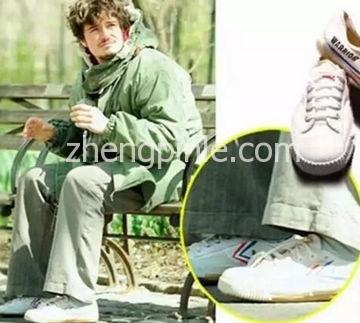 指环王里饰演精灵王子的奥兰多布鲁姆所穿的飞跃鞋