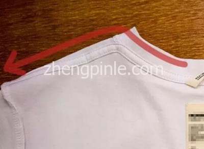 T恤内侧肩膀部位的衬线