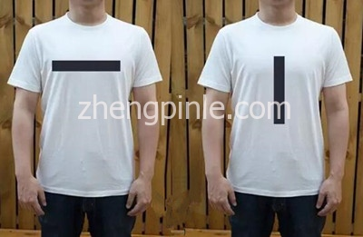 T恤图案线条的视觉效果