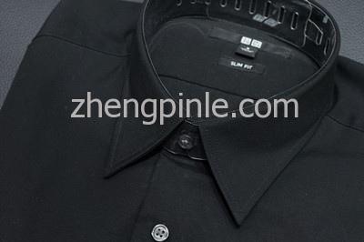 优衣库标准领衬衫细节
