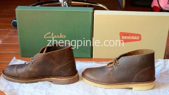国产和越南产其乐沙漠靴对比