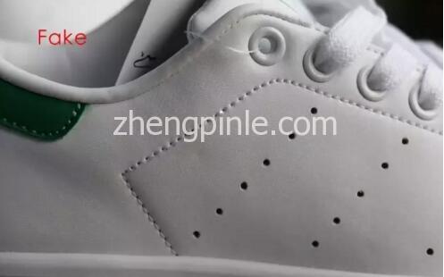 阿迪达斯Stan Smith小白鞋真假对比之做工2