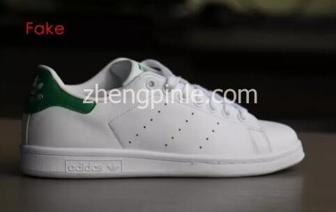 阿迪达斯Stan Smith小白鞋真假对比之鞋型2
