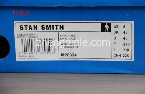 阿迪达斯Stan Smith小白鞋真假对比之鞋盒1