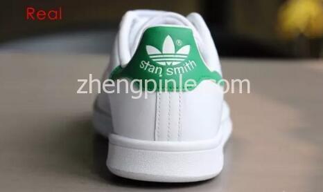 阿迪达斯Stan Smith小白鞋真假对比之鞋跟1