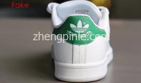 阿迪达斯Stan Smith小白鞋真假对比之鞋跟2