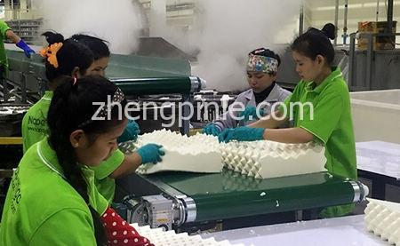 泰国乳胶枕头生产流水线