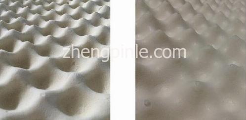 真假乳胶枕头的表面外观对比