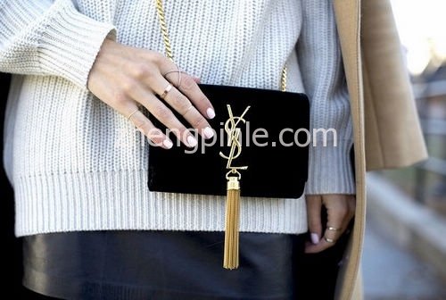 Authentic-Saint-Laurent-Tassel-Bag