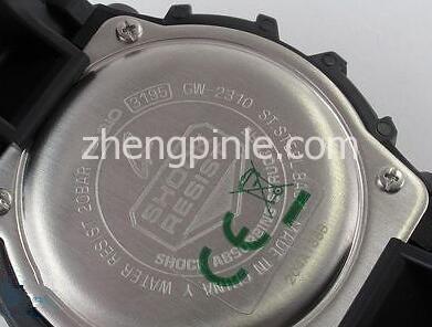 CASIO卡西欧手表背部型号
