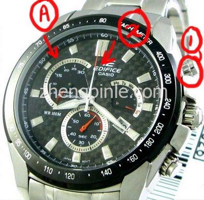 CASIO- EDIFICE手表真假辨别对比