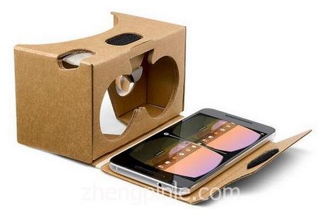 谷歌推出的Cardboard简易版VR体验眼镜