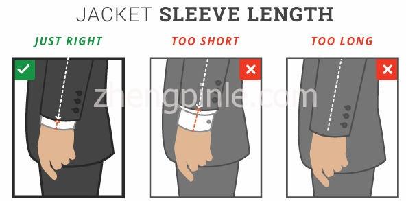 西装的袖长是否到位