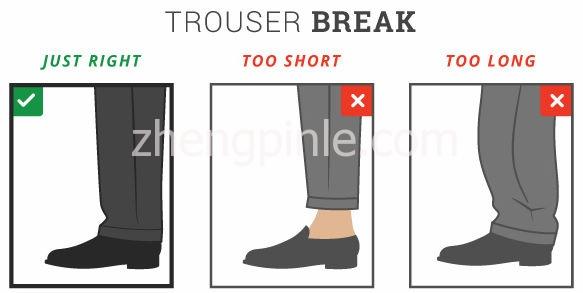 西裤的腰围和长度等