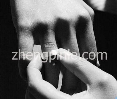信息隐藏示爱戒指