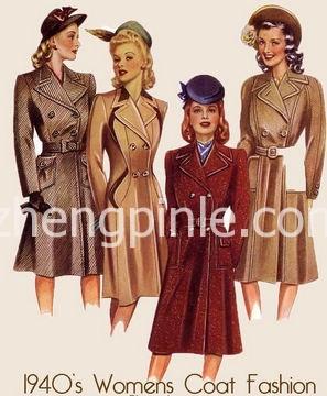 历史上女式大衣的出现和流行