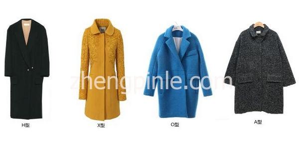 大衣按照廓形分类