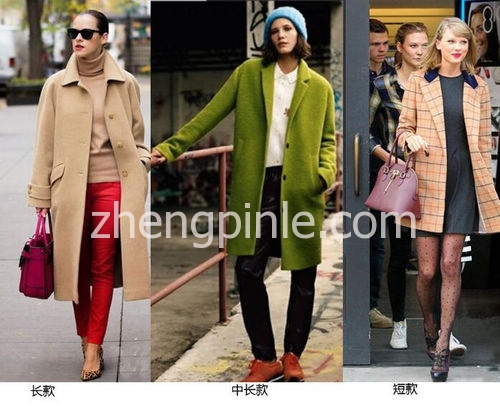 大衣按照衣长来划分种类