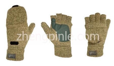 迪卡侬半指羊毛手套