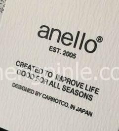 Anello双肩包的吊牌真假对比1
